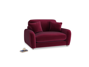 Easy Squeeze Love Seat in Merlot Plush Velvet