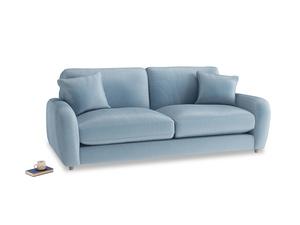 Medium Easy Squeeze Sofa in Chalky blue vintage velvet