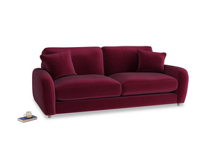 Medium Easy Squeeze Sofa in Merlot Plush Velvet