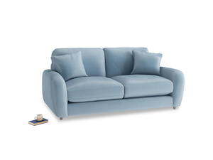 Small Easy Squeeze Sofa in Chalky blue vintage velvet