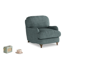 Jonesy Armchair in Anchor Grey Clever Laundered Linen