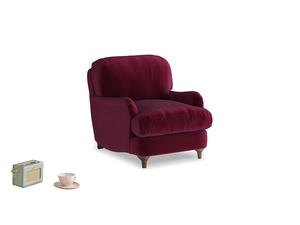 Jonesy Armchair in Merlot Plush Velvet