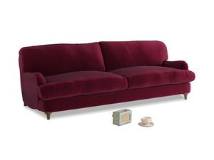 Large Jonesy Sofa in Merlot Plush Velvet