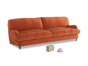 Large Jonesy Sofa in Old Orange Clever Deep Velvet