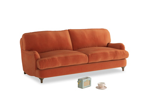 Medium Jonesy Sofa in Old Orange Clever Deep Velvet
