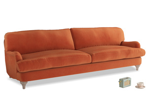 Extra large Jonesy Sofa in Old Orange Clever Deep Velvet