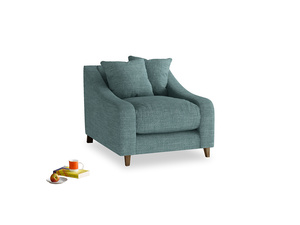 Oscar Armchair in Blue Turtle Laundered Linen