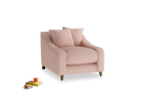 Oscar Armchair in Pale Pink Clever Woolly Fabric