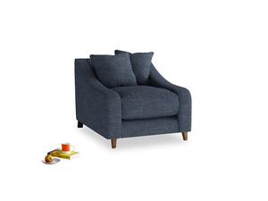 Oscar Armchair in Selvedge Blue Laundered Linen