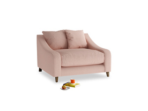 Oscar Love seat in Pale Pink Clever Woolly Fabric