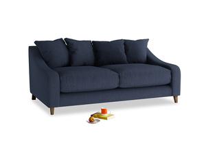 Medium Oscar Sofa in Night Owl Blue Clever Woolly Fabric