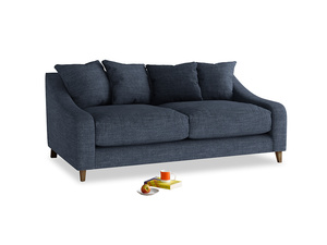 Medium Oscar Sofa in Selvedge Blue Clever Laundered Linen
