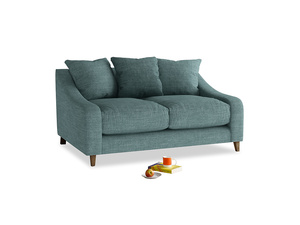 Small Oscar Sofa in Blue Turtle Clever Laundered Linen