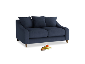 Small Oscar Sofa in Night Owl Blue Clever Woolly Fabric