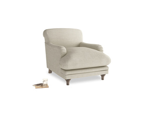 Pudding Armchair in Shell Laundered Linen