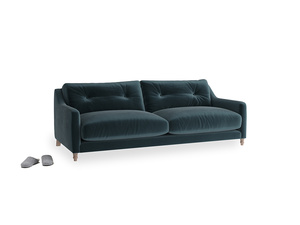 Medium Slim Jim Sofa in Bluey Grey Clever Deep Velvet