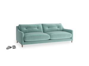 Medium Slim Jim Sofa in Greeny Blue Clever Deep Velvet