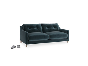 Small Slim Jim Sofa in Bluey Grey Clever Deep Velvet