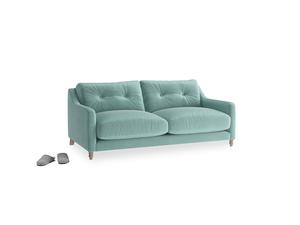 Small Slim Jim Sofa in Greeny Blue Clever Deep Velvet