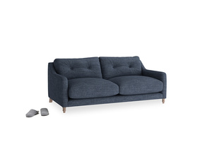 Small Slim Jim Sofa in Selvedge Blue Clever Laundered Linen