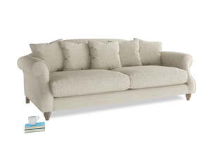 Large Sloucher Sofa in Shell Laundered Linen