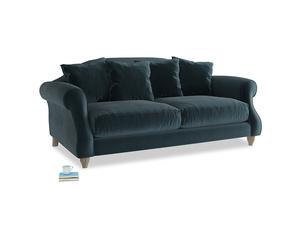 Medium Sloucher Sofa in Bluey Grey Clever Deep Velvet
