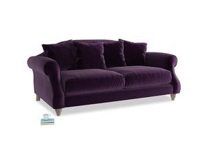 Medium Sloucher Sofa in Deep Purple Clever Deep Velvet