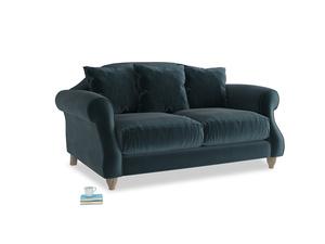 Small Sloucher Sofa in Bluey Grey Clever Deep Velvet