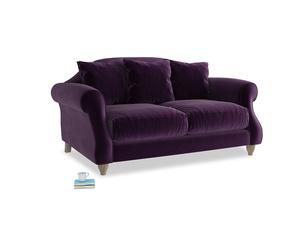 Small Sloucher Sofa in Deep Purple Clever Deep Velvet
