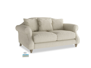 Small Sloucher Sofa in Shell Laundered Linen