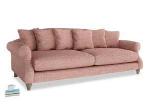 Extra large Sloucher Sofa in Blossom Clever Laundered Linen