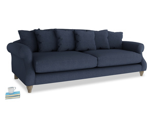 Extra large Sloucher Sofa in Night Owl Blue Clever Woolly Fabric