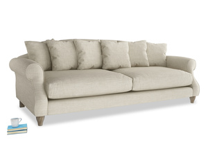 Extra large Sloucher Sofa in Shell Clever Laundered Linen