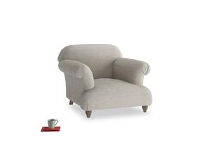 Soufflé Armchair in Grey Daybreak Laundered Linen