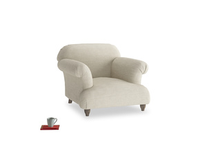 Soufflé Armchair in Shell Laundered Linen