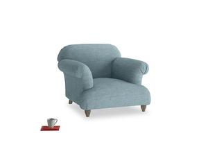Soufflé Armchair in Soft Blue Laundered Linen