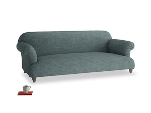 Large Soufflé Sofa in Anchor Grey Clever Laundered Linen