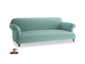 Large Soufflé Sofa in Greeny Blue Clever Deep Velvet