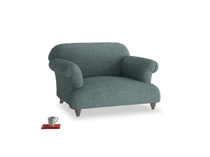 Soufflé Love seat in Anchor Grey Clever Laundered Linen