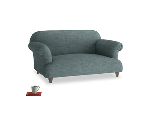 Small Soufflé Sofa in Anchor Grey Clever Laundered Linen
