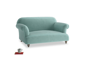 Small Soufflé Sofa in Greeny Blue Clever Deep Velvet