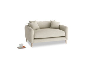 Squishmeister Love Seat in Shell Clever Laundered Linen