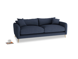 Medium Squishmeister Sofa in Night Owl Blue Clever Woolly Fabric