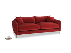 Medium Squishmeister Sofa in Rusted Ruby Vintage Velvet