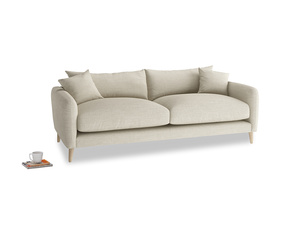 Medium Squishmeister Sofa in Shell Clever Laundered Linen