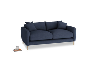 Small Squishmeister Sofa in Night Owl Blue Clever Woolly Fabric
