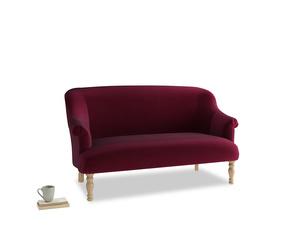 Medium Sweetie Sofa in Merlot Plush Velvet