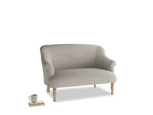 Small Sweetie Sofa in Grey Daybreak Clever Laundered Linen