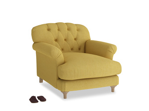 Truffle Armchair in Easy Yellow Clever Woolly Fabric