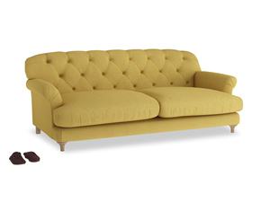 Large Truffle Sofa in Easy Yellow Clever Woolly Fabric